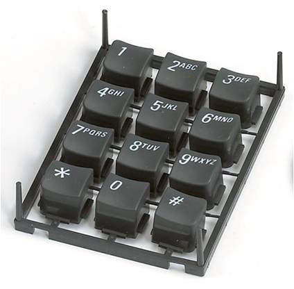 双色/多色射出成型可应用于键盘、汽机车零件。