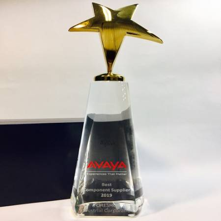 Received an Excellent Vendor Award(Best Component Supplier) from AVAYA.