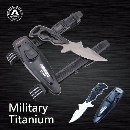 Faca scuba titanium - Faca scuba titanium