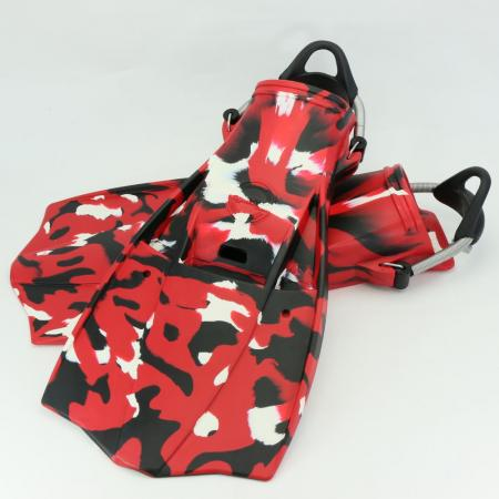 Military Red Camouflage Jet Fin