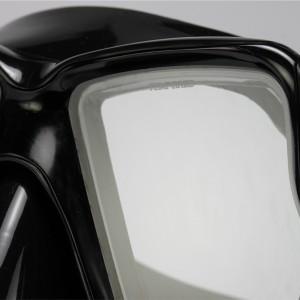এমকে -400 (বি কে) ডাইভিং ব্ল্যাক মাস্ক টুইন টেম্পার্ড গ্লাস লেন্স