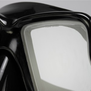 MK-400(BK) Diving Black Mask Twin Tempered Glass Lens