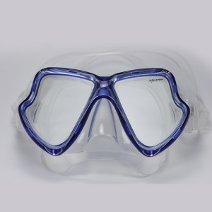 MK-400(BL) Scuba Mask Twin Tempered Glass Lens