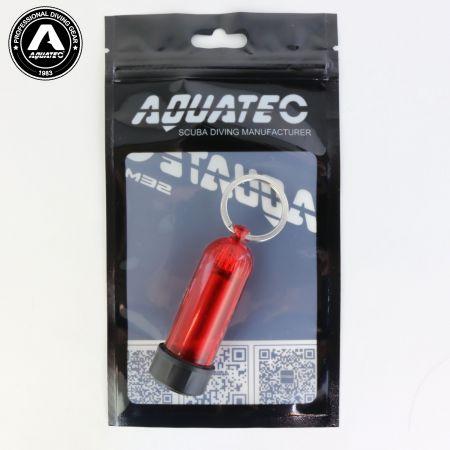Scuba Choice Diving Mini Tank Key Ring (Red)