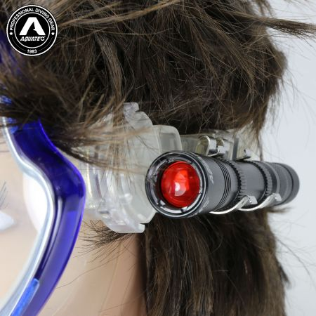 LED-1720 Scuba Push-Button Switch Mini Lichtmaske Masken Lampe