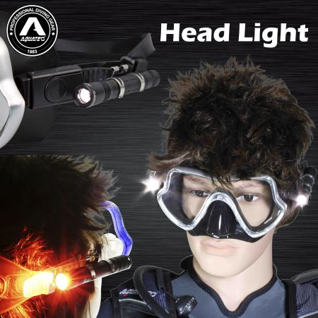 نور ماسک Scuba - Aquatec Diving Mask Light