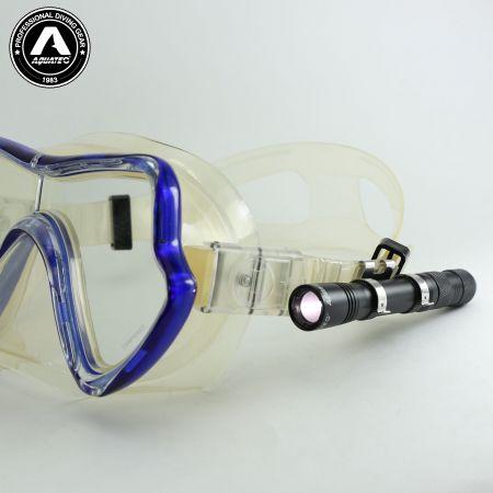 LED-1720 Scuba Push-Button Switch Mini Lichtmaske Masken Lampe