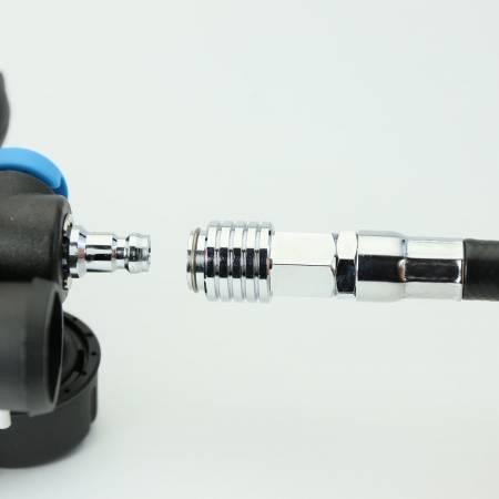 Tauchgang Atemregler AIR - 3, Alternatie Luftversorgung Schlauch