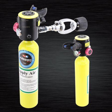 Abastecimento de ar para mergulho - Tanque de ar sobressalente de mergulho