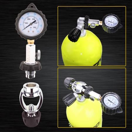 Vérificateur de pression de réservoir DIN et étrier - Plongée vérificateur de pression de réservoir