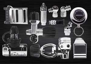 Hardware en accessoires voor duikuitrusting