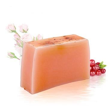 Xà phòng dưỡng ẩm Handmade Soap - Nam việt quất + Hoa hồng