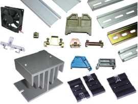 Aksesoris - Din Mount Rail & End Clamp Bracket & Indikator Kegagalan Daya & Adaptor Rel Din & Heat Sink dan Kipas