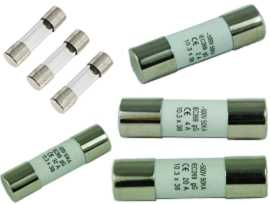 Fius tiub - SHINING F-0632G Series Glass Tube Fuse & F-1038C Series Ceramic Tube Fuse