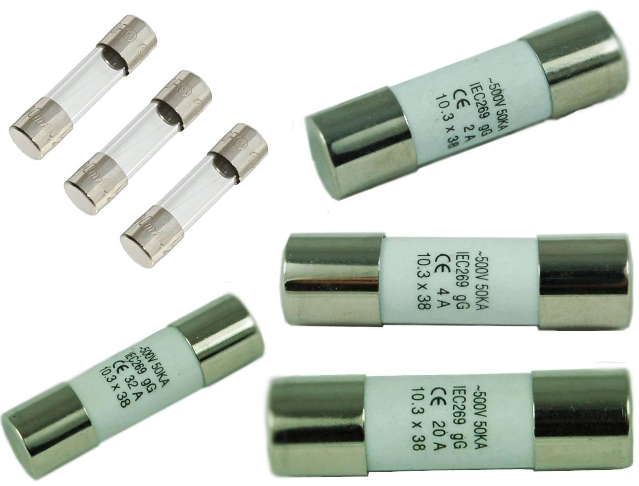 퓨즈 - SHINING F-0632G 시리즈 유리 튜브 퓨즈 및 F-1038C 시리즈 세라믹 튜브 퓨즈