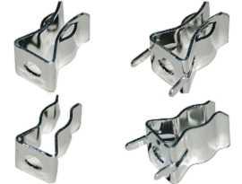 Clip per fusibili serie FC-5063BNXX - FC-5063BNXX Morsetti per fusibili in ottone serie 250V 15A 6X30mm (placcatura in nichel)