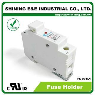 FS-031L1 Din релсов монтиран 10x38 RT18-32 патрон 110V 32A 1 полюсен държач - FS-031L1 10x38 RT18-32 600V 32A 1 полюсен предпазител