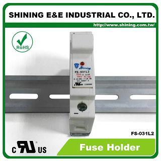 FS-031L2 Din монтиран релсов 10x38 RT18-32 патрон 380V 32A 1 полюсен държач - FS-031L2 10x38 RT18-32 600V 32A 1 полюсен държач за предпазители