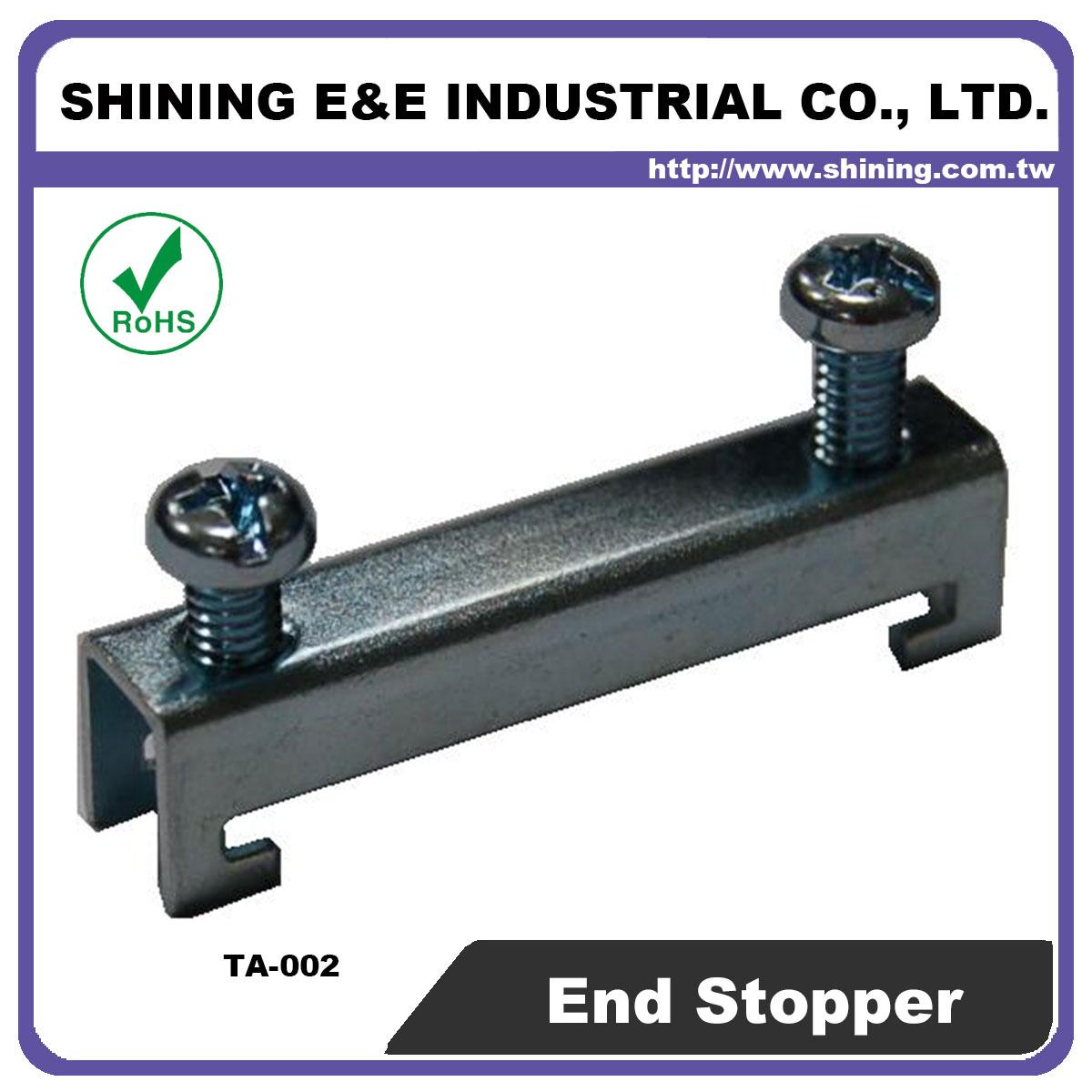 TA-002 Steel End Bracket For 35mm Din Mounting Rail - TA-002 35mm Steel End Bracket