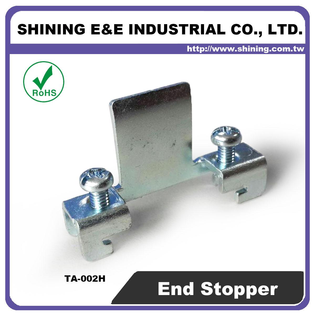 TA-002H Steel End Bracket For 35mm Din Mounting Rail - TA-002H 35mm Steel End Bracket