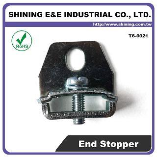TS-0021 Steel End Bracket For 25mm Din Mounting Rail - TS-0021 25mm Steel End Bracket