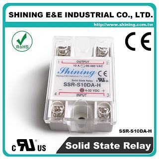 SSR-S10DA-H DC to AC 10A 480VAC Single Phase Solid State Relay - SSR-S10DA-H DC to AC 10A 480VAC SSR