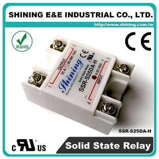SSR-S25DA-H DC to AC 25A 480VAC Single Phase Solid State Relay - SSR-S25DA-H DC to AC 25A 480VAC SSR