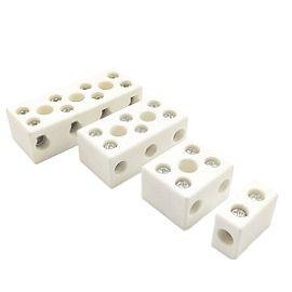 Morsettiera in ceramica TC-6XXXA - Alta temperatura <br>Ceramica (porcellana)<br>(600V,30A,50A,65A,<br>100A,1~4Pole)
