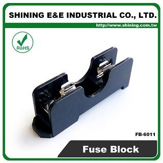 FB-6011 Untuk 6x30mm Fuse Din Rail Mount 600V 15A 1 Pin Fuse Box
