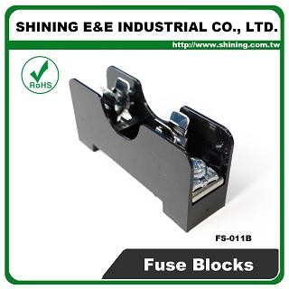 FS-011B Untuk 6x30mm Fuse Din Rail Mounted 600V 10A 1 Way Fuse Block
