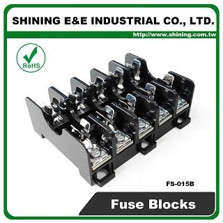 FS-015B Untuk Rel Fuse Din 6x30mm Dipasang 600V 10A 5 Way Block Fuse