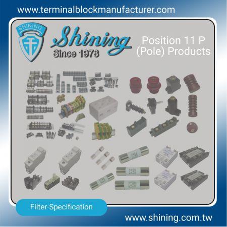 11 P (pólové) výrobky - 11 P (pólové) svorkovnice | Polovodičové relé | Držiak poistky | Izolátory -SHINING E&E