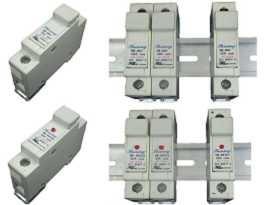 Pemegang Fius - Din Rail Mounted 10x38 Cartridge 32A Fuse Holders