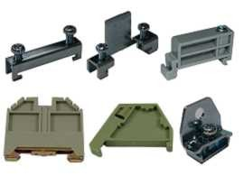 End Clamp / End Bracket / End Stopper - SHINING- End Clamp End Bracket End Stopper Untuk pelbagai jenis Blok Terminal