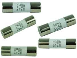F-1038C-XX 10x38mm 500V Fiat Ferrule seramik - SHINING-F-01038C Series 10x38mm 500V Time Delay Ceramic Tube Fuse