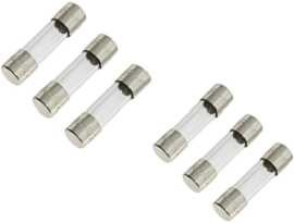 F-0632G-XX 6x30mm 250V glansäkringar - SHINING F-0632G Series 6x32mm 250V Time Delay Glass Tube Fuse