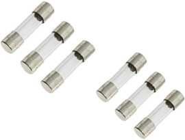 F-0632G-XX 6x30mm 250V Kaca Ferrule Fuse - SHINING F-0632G Series 6x32mm 250V Time Delay Glass Tube Fuse