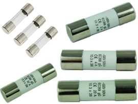 Fusibile tubo - Fusibile per tubo di vetro serie F-0632G SHINING e fusibile per tubo in ceramica serie F-1038C