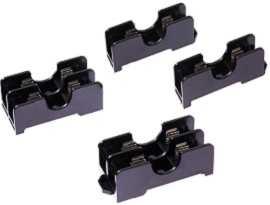 Blocchi fusibili midget 6x30 600V 15A da 35 mm montati su guida DIN serie FB-601X - Blocchi fusibili midget 15A 6x30 montati su guida DIN FB-6011 e FB-6012