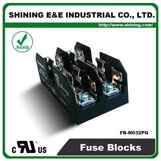 FB-M032PQ Untuk Blok Fius 10x38mm Fius 600V 30 Amp 2 Posisi