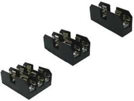 Serie FB-M03XPQ per fusibile 10x38mm Blocco fusibili midget 600V 30 Amp - FB-M031PQ e FB-M032PQ e FB-M033PQ Fusibili da 30 Amp 10x38 montati a pannello