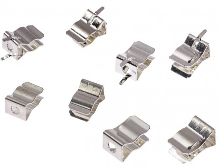 FC-4063CSXX 시리즈 퓨즈 클립 - FC-4063CSXX 시리즈 250V 20A 6x30mm 적색 구리 퓨즈 클립 (실버 도금)