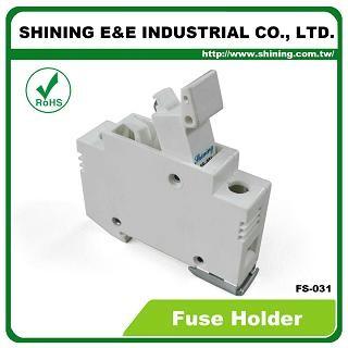 Portafusibili FS-031 10x38 RT18-32 montati su guida DIN 600V 32A 1 portafusibili