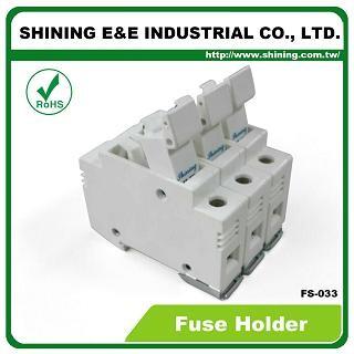 FS-033 Cartuccia 10x38 RT18-32 con montaggio su guida DIN 600V 32A Portafusibile a 3 poli