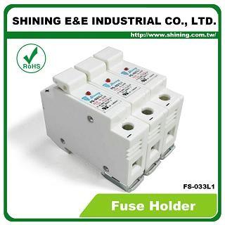 Portafusibili FS-033L1 10x38 RT18-32 montati su guida DIN 110V 32A supporto per fusibili a 3 poli