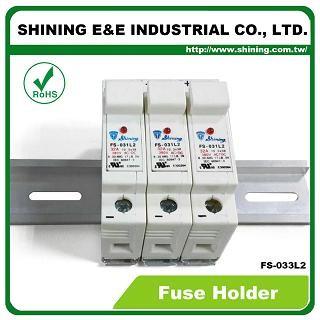 FS-033L2 Supporto per fusibile a 3 poli 380x 32A montato su guida DIN 10x38 RT18-32