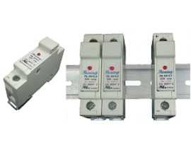 Portafusibili 110V 32A a cartuccia 10x38 RT18-32 con montaggio su guida DIN serie FS-03XL1 - Portafusibili 10x38 FS-031L1 e FS-032L1
