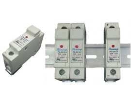 FS-03XL1 Séria držiakov poistiek na lištu 10x38 RT18-32, 110 V, 32 A - Držiaky poistiek FS-031L1 a FS-032L1 10x38