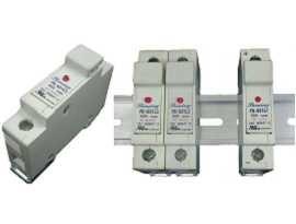 FS-03XL3 Séria držiakov na lištu 10x38 RT18-32, držiaky poistiek 600V 32A - Držiaky poistiek FS-031L3 a FS-032L3 32A