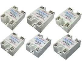 Jednofázové polovodičové relé série SSR-SXXAA, AC na AC - Jednofázové polovodičové relé typu SSR-SXXAA typu AC na AC